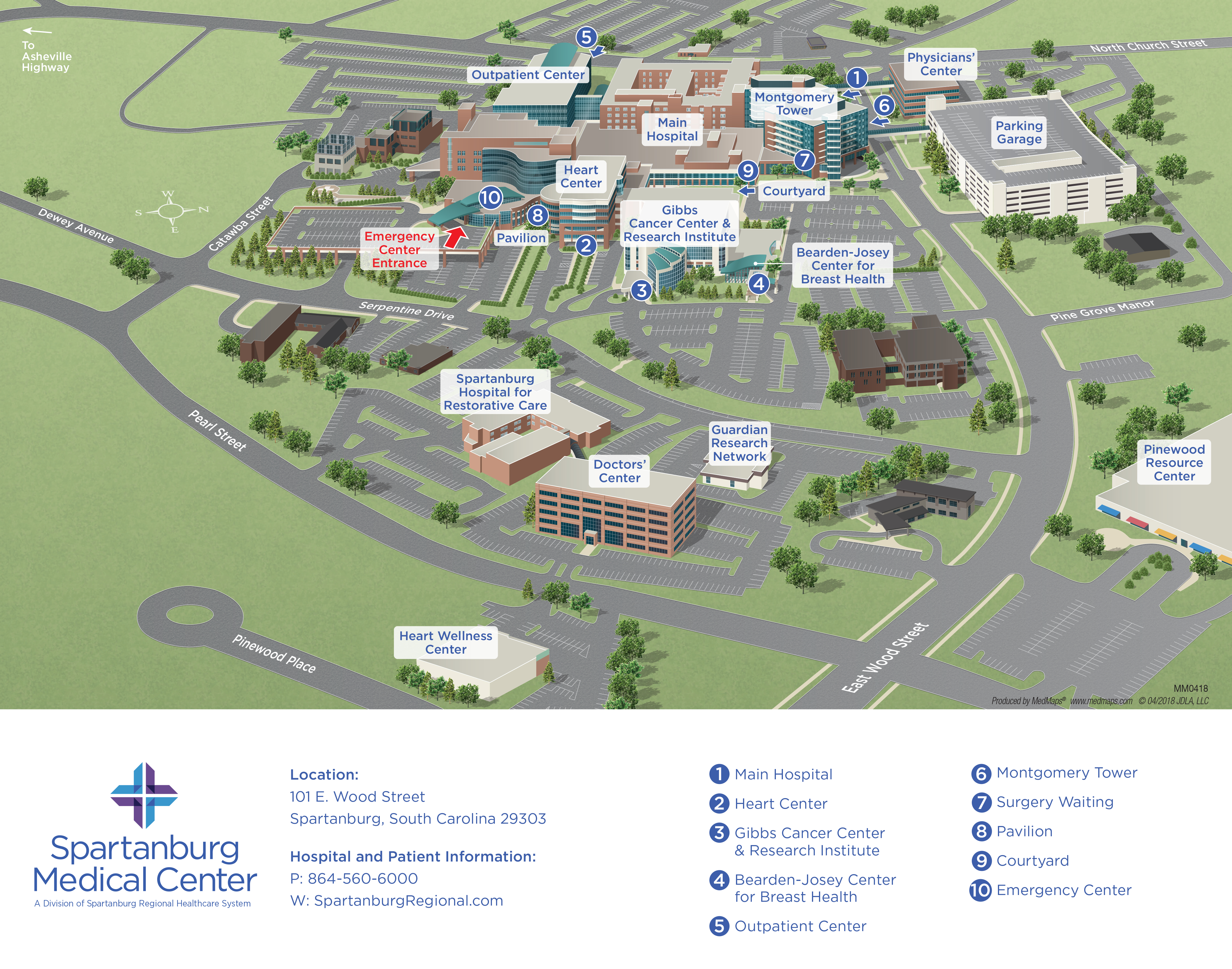 Spartanburg Medical Center Campus Map