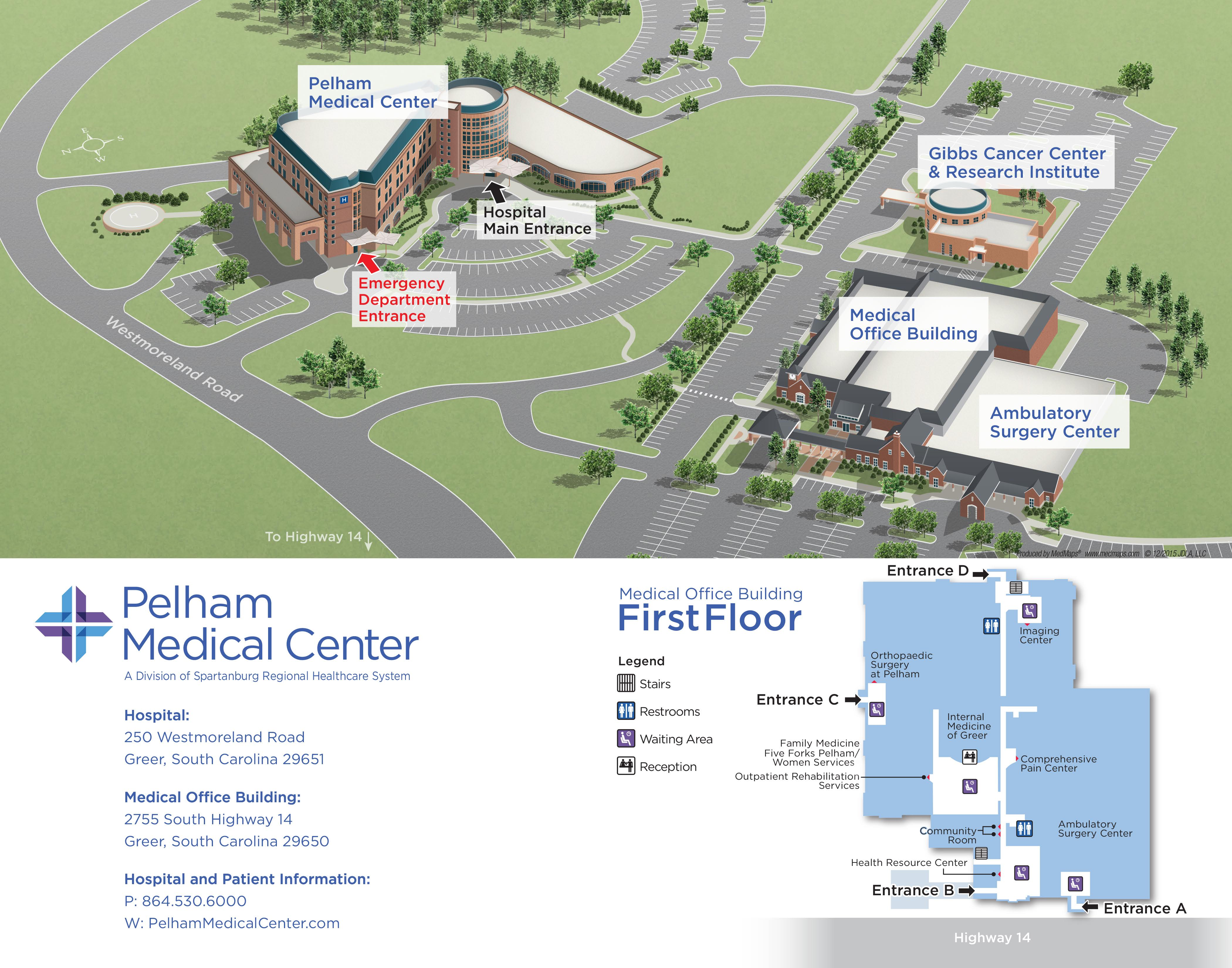 Pelham Medical Center Campus Map