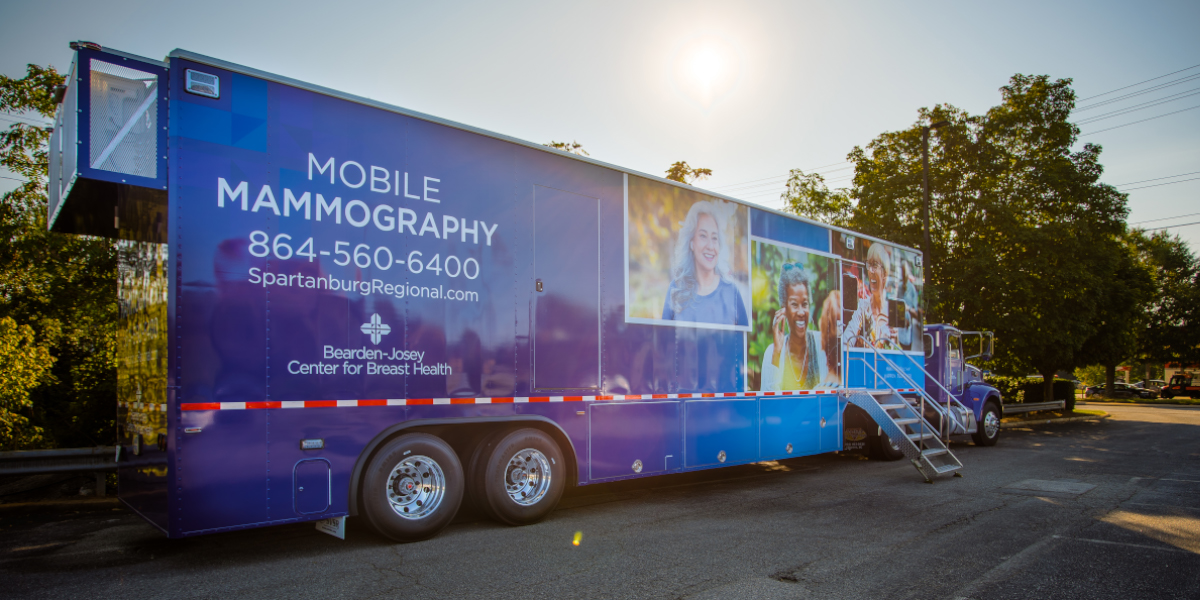The Bearden-Josey Center for Breast Health unveils two new mobile mammography units