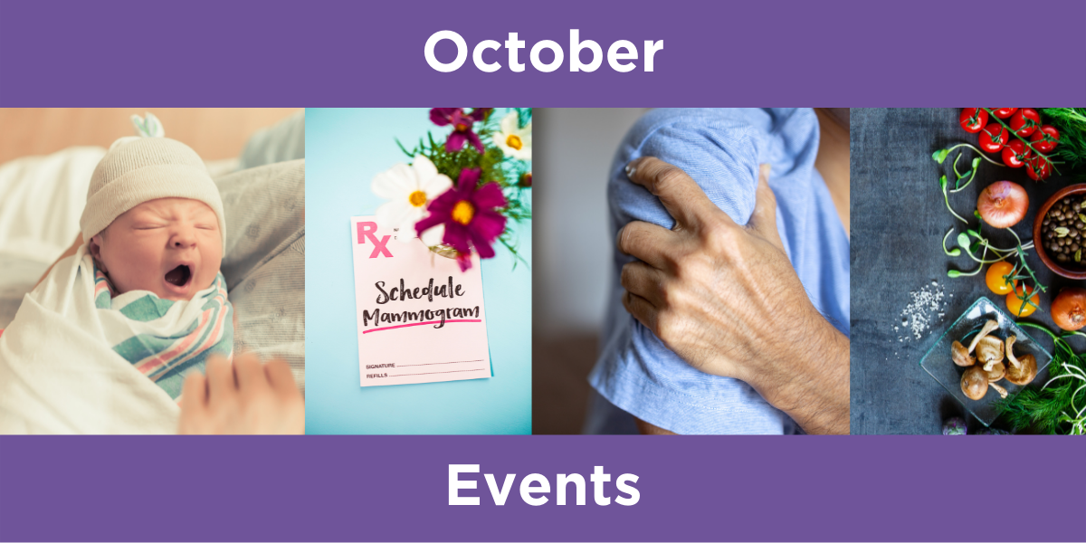 Health events for October 2021